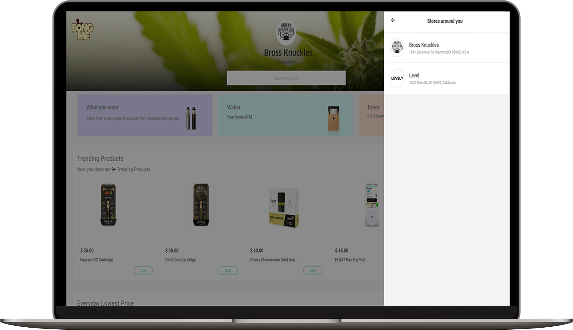🍀BongMe | Cannabis Dispensary Inventory & Delivery Software