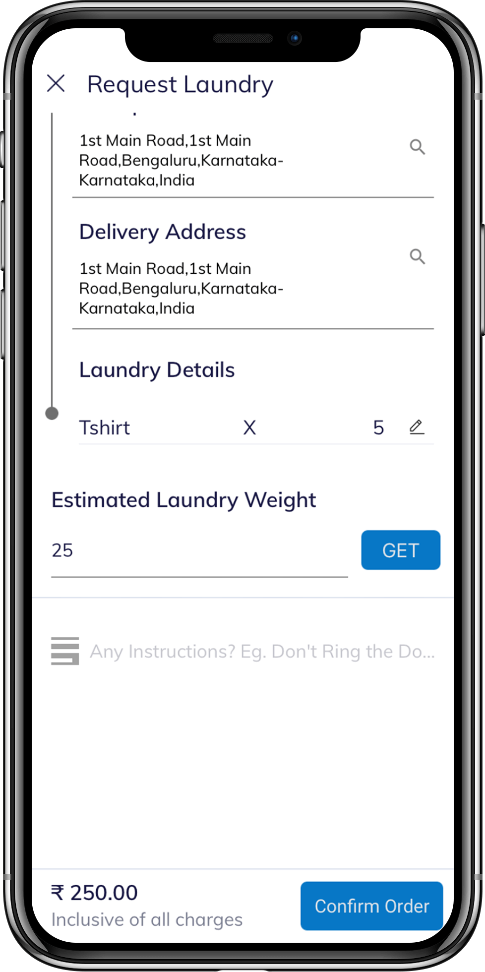 On demand laundry