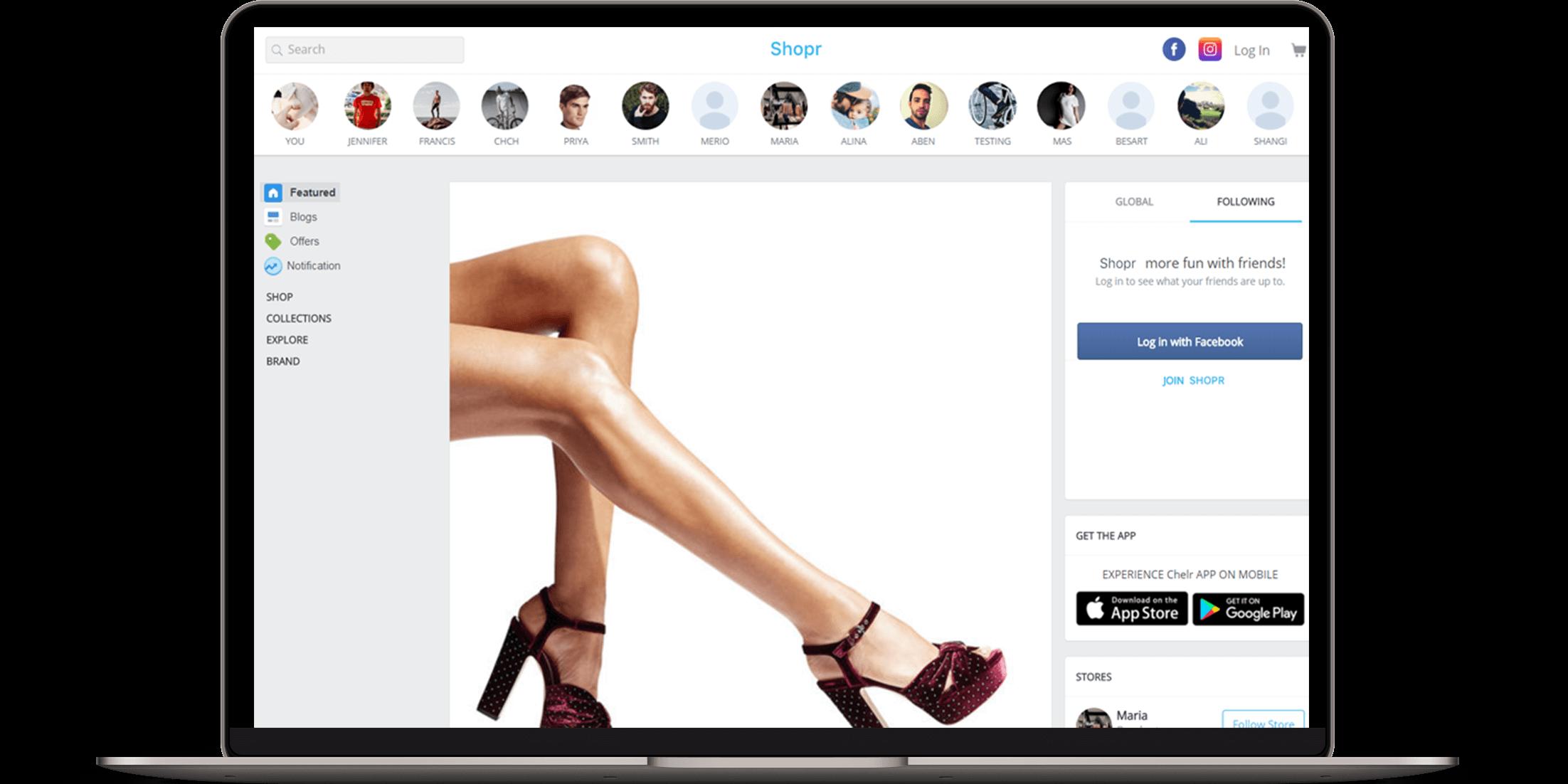 👜 Shopr | Best Social Ecommerce Script | Multi-Store Ecommerce Platform