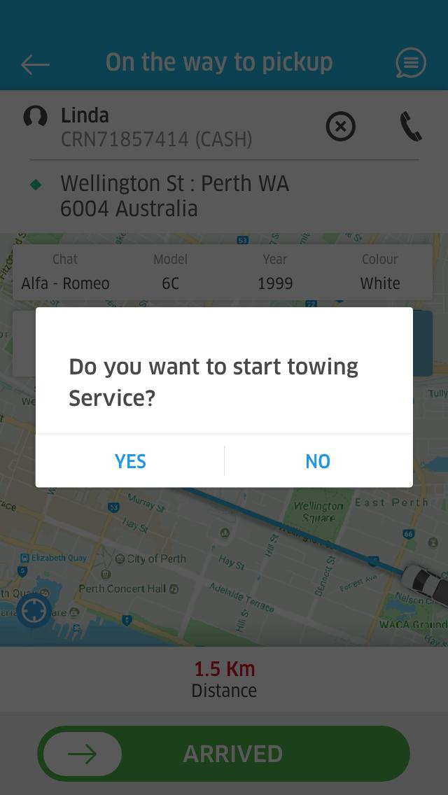 roadyo driver app receipt