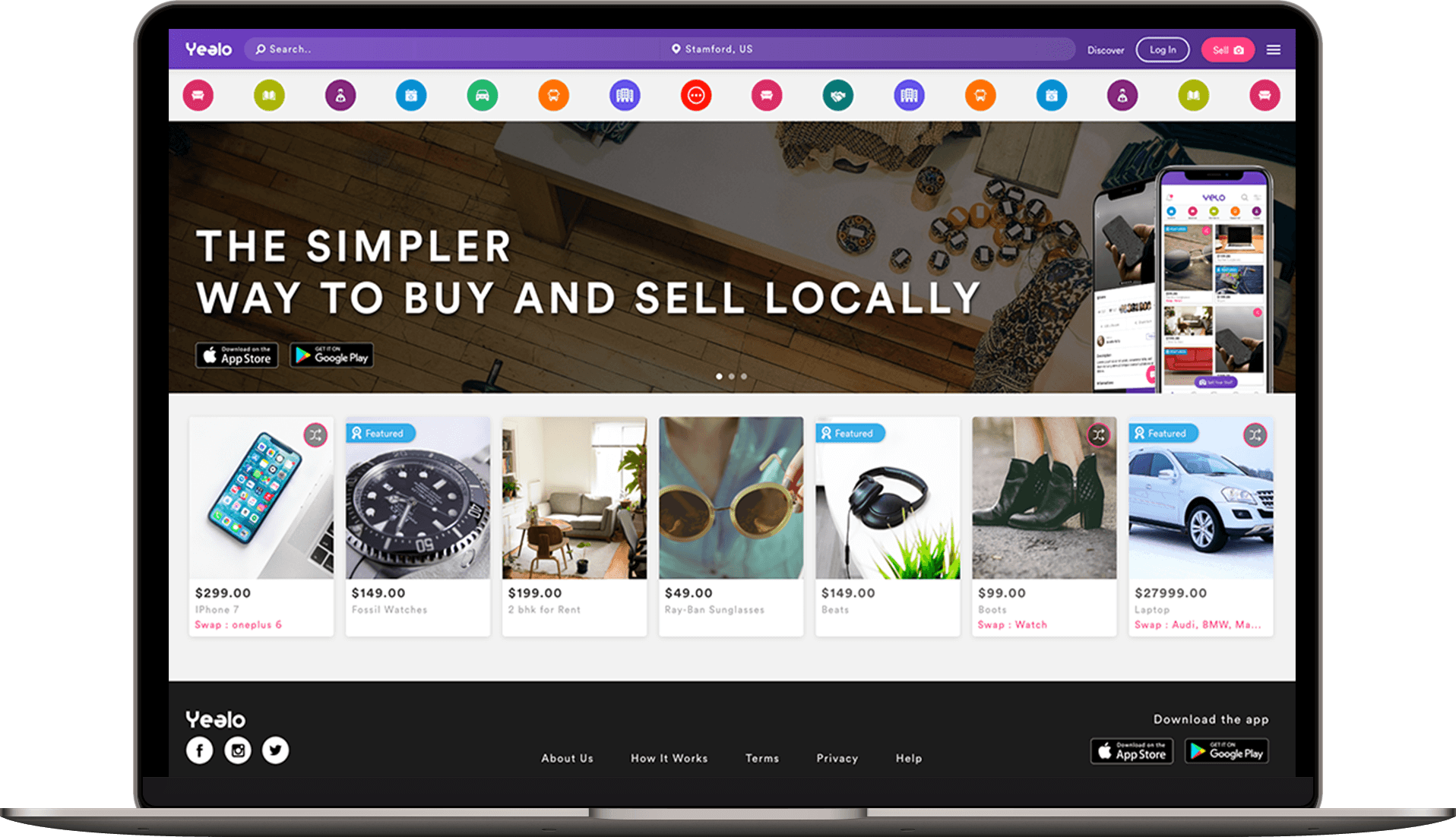 0010a8d2bce4 Our Wish Local   Shpock   Carousell   OfferUp clone script also provides a  fully responsive website solution
